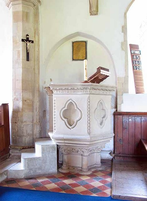 St Mary's Church, Marlingford, Norfolk - Pulpit