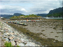 NG8033 : Low tide in Plockton Bay by Dave Fergusson