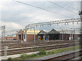 SJ8696 : Longsight railway depot by Stephen Craven