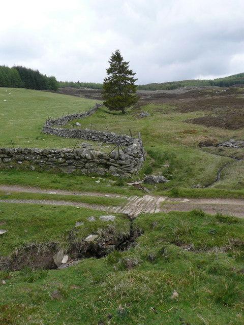 Track to Loch Broom crosses small burn