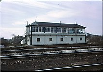 SD4364 : Morecambe signalbox 1976 by Peter Whatley