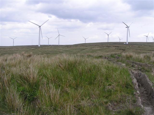 Wind farm near Garrison Forest