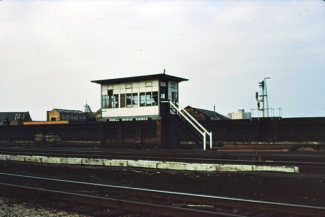 Irwell Bridge Sidings signalbox 1977