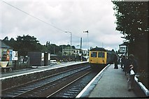SD7213 : Bromley Cross station and signalbox 1978 by Peter Whatley