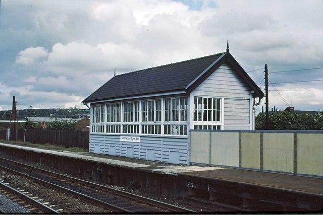 Hollinwood signalbox 1978