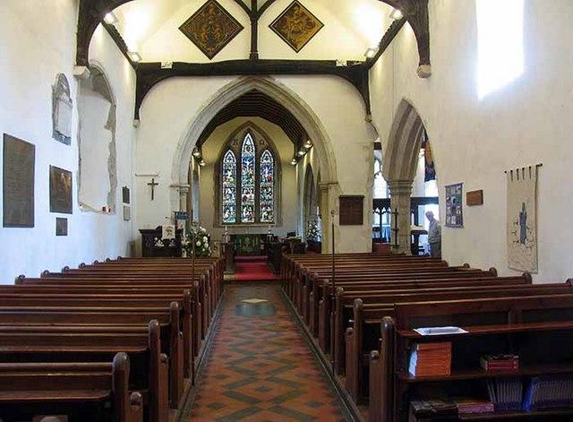 St Mary's Church, Kennington, Kent - East end