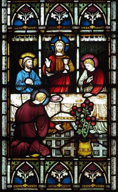 St Mary's Church, Kennington, Kent - Detail from east window