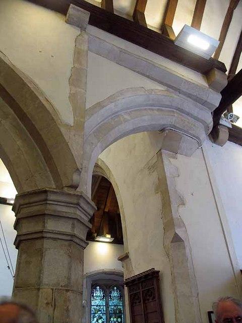 St Mary's Church, Kennington, Kent - Arch