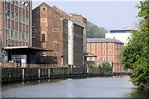 TG2407 : Warehouses along the Wensum by Pierre Terre