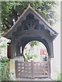 TQ2166 : Lych gate to St John's churchyard by Stephen Craven