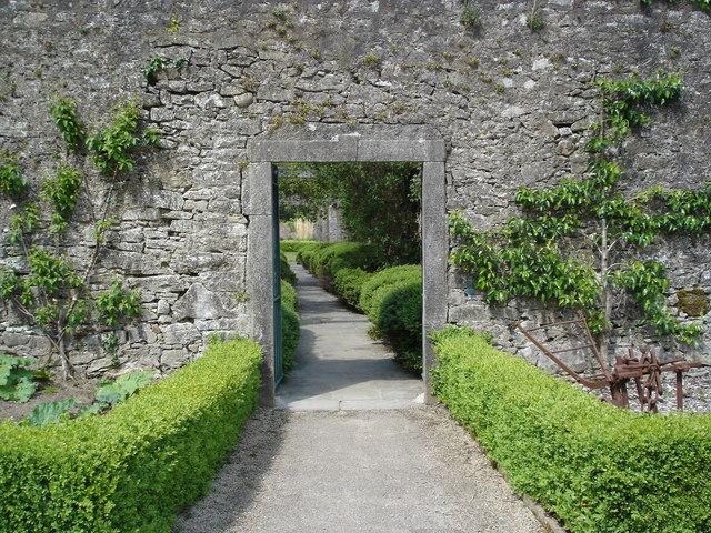 Door into the fruit garden at Strokestown Park