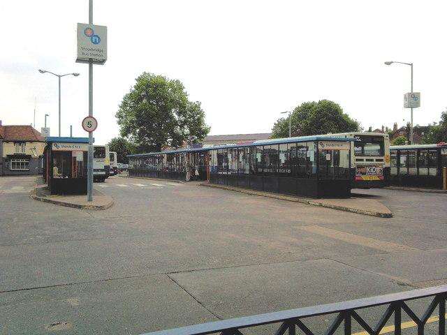 Stourbridge bus station.