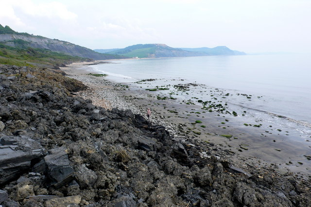 Landslip between Charmouth and Lyme Regis
