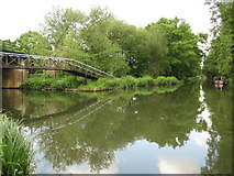 TQ0562 : Basingstoke Canal: Junction with the River Wey Navigation by Nigel Cox