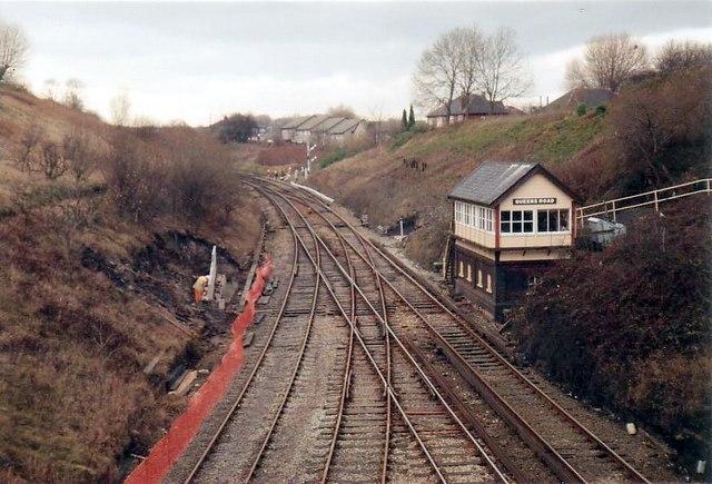 Queens Road signalbox 1990