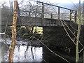 SN8785 : River Severn,Hafodfeddgar farm bridge. by kevin skidmore