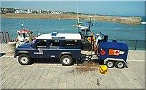 J5980 : Refuelling Donaghadee lifeboat by Albert Bridge