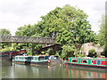 TQ1777 : Grand Union canal - footbridge by Galba Court by David Hawgood