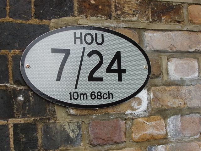 Canal/Railway bridge sign