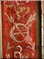 TG4010 : St Edmund's church - screen detail by Evelyn Simak