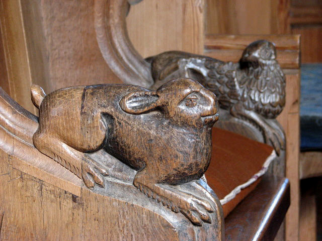 The church of All Saints - bench ends