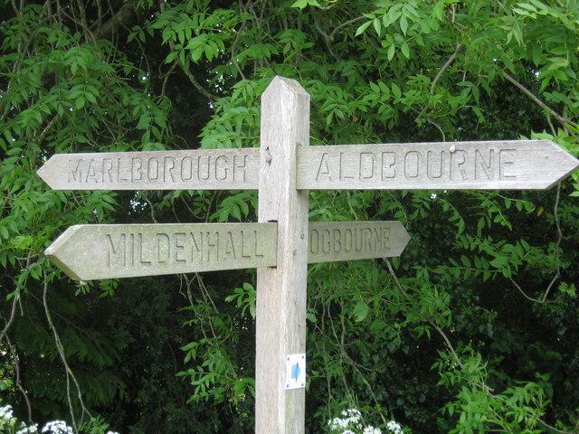 Signpost at Charles Sorley memorial