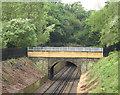 TQ4178 : Footbridge with rebuilt parapet, Maryon Park by Stephen Craven
