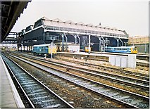 SJ8499 : Manchester Victoria - east end 1988 by Peter Whatley