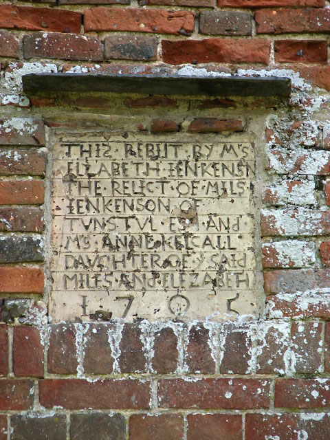 The church of St Peter & St Paul - commemorative plaque