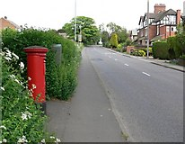 SK3516 : Postbox along Moira Road in Ashby de la Zouch by Mat Fascione