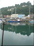 TR3140 : Dover Marina looking towards Western Heights by pam fray