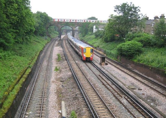 Putney: Network Rail and London Underground railways
