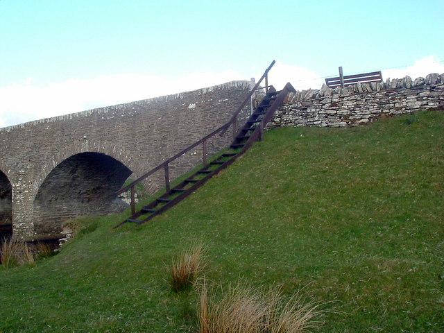 Access steps for  anglers