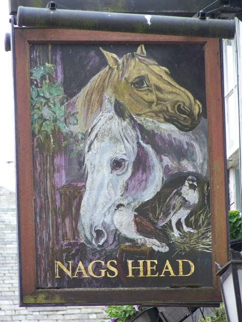 Sign for the Nags Head, Brampton