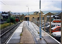 SK0394 : Glossop station by Peter Whatley