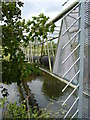 NY3953 : Pipe bridge over River Caldew, Cummersdale by Tony Vickers
