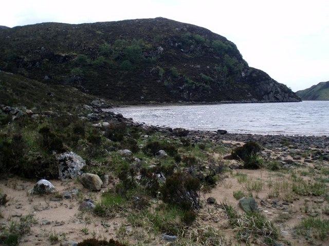 Loch a' Mhadail sand bar