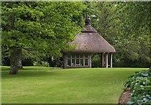 SX7962 : Summer house, Dartington Hall by Derek Harper