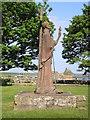 NU1241 : St Aidan's Statue by Iain Lees