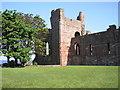 NU1241 : Lindisfarne Priory by Iain Lees