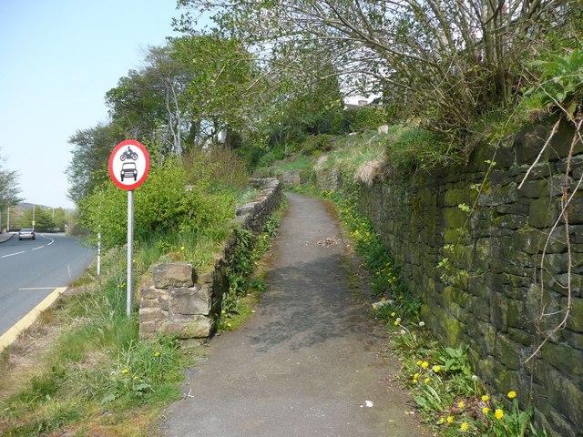 No motor vehicles, Lane Ings, Marsden