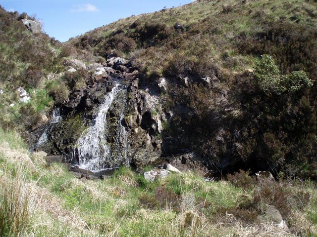 Waterfall on Loch a' Ghille outlet burn