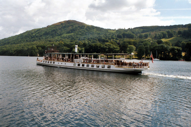 MV 'Tern' just off Lakeside, Lake Windermere