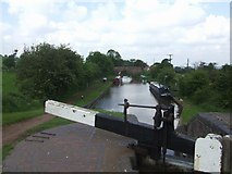 SO9969 : Worcester & Birmingham Canal - Looking South to Bridge 56 from Tardebigge Top Lock by John M