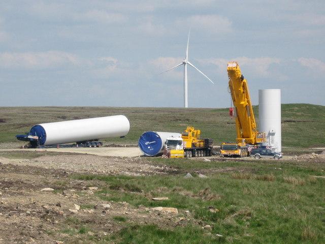 Turbine Tower No 23 construction site