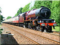NY6820 : Princess Elizabeth 6201 at Appleby Station by Simon Johnston