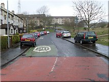 NS5073 : A very wet Douglas Muir Road by Stephen Sweeney