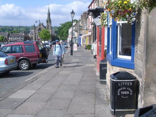 Looking down Galgate towards town centre