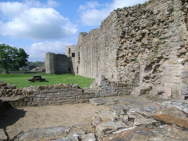 Walls inside the castle, Barnard Castle