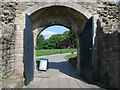 NZ0416 : Looking from the inside of the castle out, through the arch by Nicholas Mutton